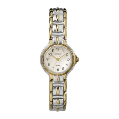jcpenney.com | Carriage by Timex® Womens Two-Tone Stainless Steel Bracelet Watch C3C3539J