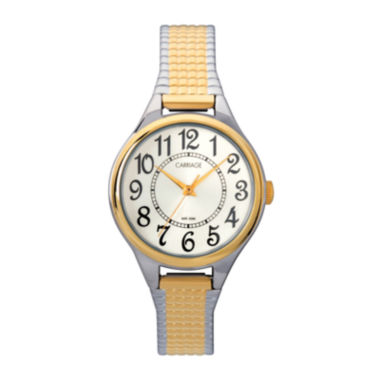 jcpenney.com | Carriage by Timex® Womens Two-Tone Stainless Steel Expansion Bracelet Watch C3C3679J