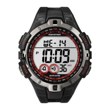 jcpenney.com | Marathon by Timex® Mens Black Resin Strap Digital Watch T5K423M6