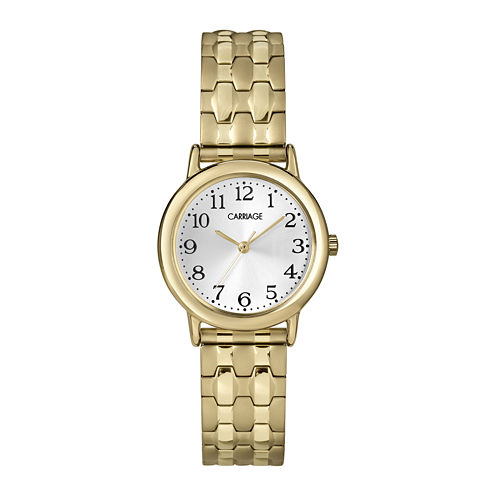 Carriage by Timex® Womens Gold-Tone Stainless Steel Expansion Bracelet Watch C3C7459J