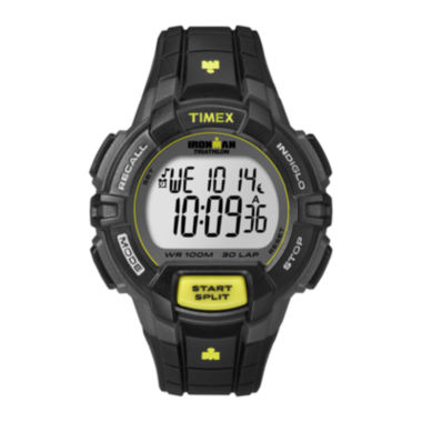 jcpenney.com | Timex® Ironman Rugged Mens Black Resin Strap 30-Lap Watch T5K7909J