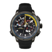 Timex® IQ Adventure Mens Black Silicone Strap Chronograph Watch TW2P44300ZA