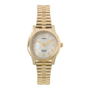 jcpenney.com | Timex® Elevated Classic Womens Gold-Tone Stainless Steel Expansion Bracelet Watch T2M8279J