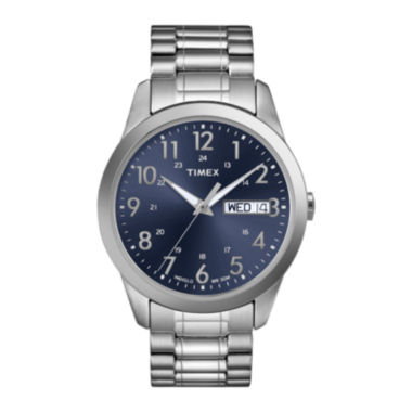 jcpenney.com | Timex® Elevated Classic Mens Stainless Steel Expansion Strap Watch T2M9339J