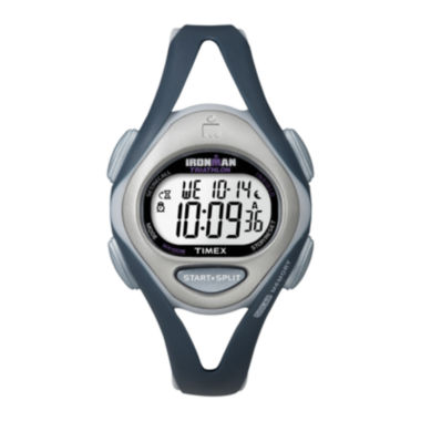 jcpenney.com | Timex® Ironman Womens Blue Resin Strap 50-Lap Watch T5K4519J