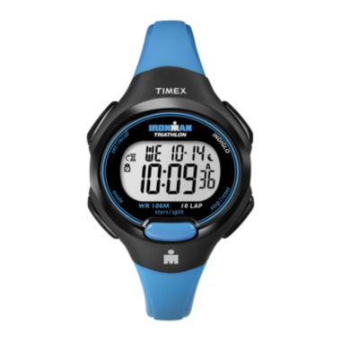 jcpenney.com | Timex® Womens Blue Resin Strap 10-Lap Watch T5K5269J