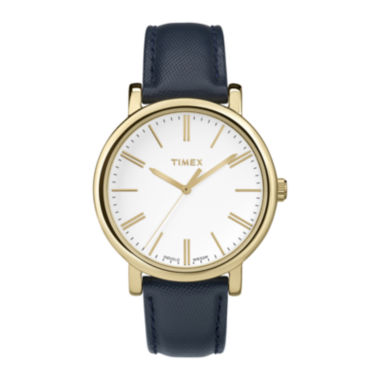 jcpenney.com | Timex® Originals Modern Womens Blue Leather Strap Watch TW2P63400AB