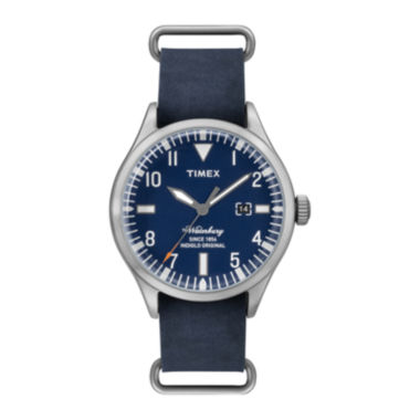 jcpenney.com | Timex® Originals Modern Mens Blue Leather Strap Watch TW2P64500AB