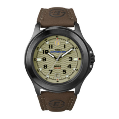 jcpenney.com | Timex® Expedition® Field Metal Mens Brown Leather Strap Watch T470129J