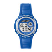 Marathon by Timex® Blue Resin Strap Digital Watch TW5K85000M6