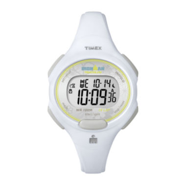 jcpenney.com | Timex® Womens White Resin Strap 10-Lap Watch T5K6069J
