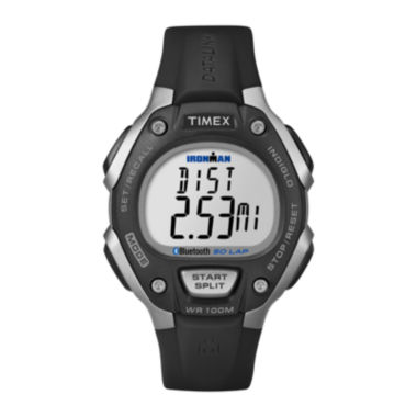 jcpenney.com | Timex® Black Resin Strap 50-Lap Watch TW5K86300F5