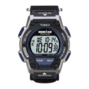 Timex® Ironman Endure Mens Black Nylon Fast Strap 30-Lap Watch T5K1989J