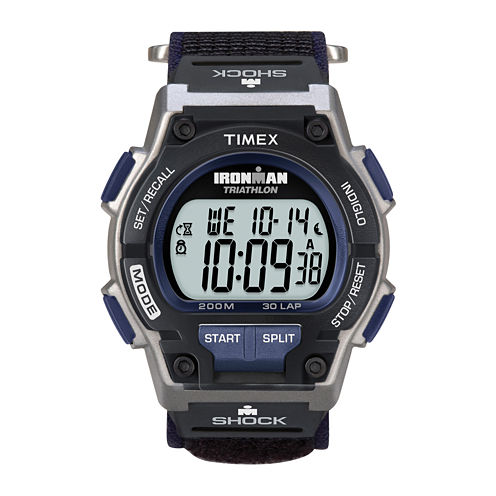 Timex® Ironman Endure Mens Black Nylon Fast Strap 30-Lap Watch T5K1989J