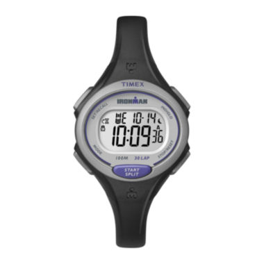 jcpenney.com | Timex® Ironman Womens Black Resin Strap 30-Lap Watch TW5K900009J