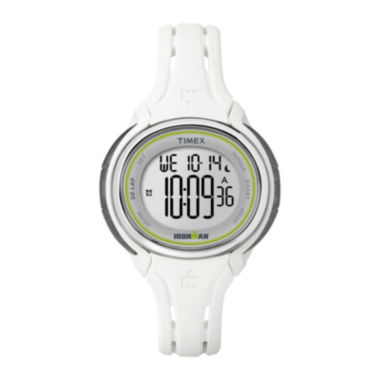 jcpenney.com | Timex® Ironman Womens White Resin Strap 50-Lap Watch TW5K907009J