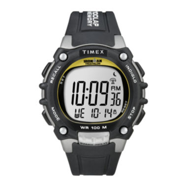 jcpenney.com | Timex® Ironman Mens Black Resin Strap 100-Lap Watch T5E2319J