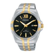 Pulsar® Easy Style Mens Two-Tone Stainless Steel Watch PH9084