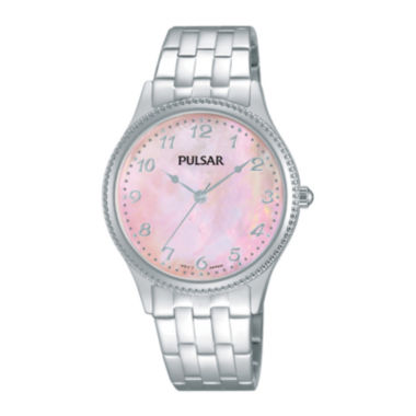 jcpenney.com | Pulsar® Business Womens Mother-of-Pearl Stainless Steel Sport Watch PH8139