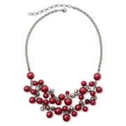 Vieste® Simulated Red Pearl Necklace