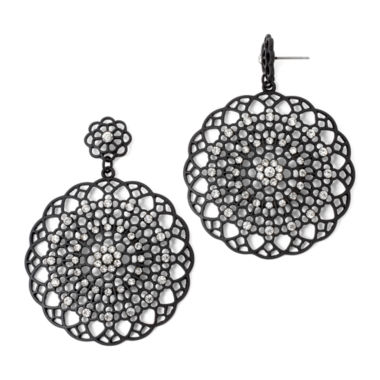 jcpenney.com | Decree® Crystal-Accented Filigree Metal Earrings