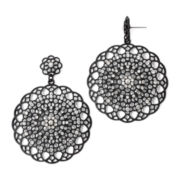 Decree® Crystal-Accented Filigree Metal Earrings