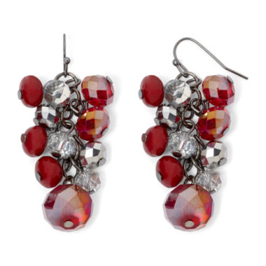 jcpenney.com | Mixit™ Red Grape Cluster Earrings