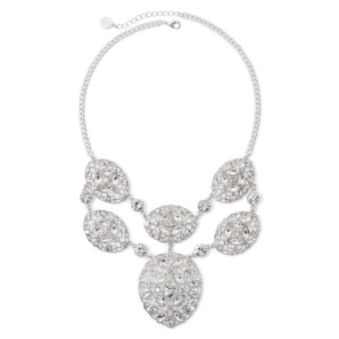 jcpenney.com | Liz Claiborne® Crystal-Accent Silver-Tone Statement Necklace