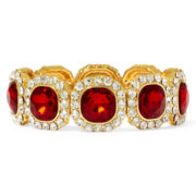 Monet® Red and Clear Crystal Stretch Bracelet