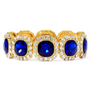 Monet® Blue and Clear Crystal Stretch Bracelet