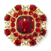 Monet® Red and Clear Crystal Stretch Ring