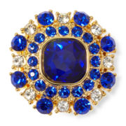 Monet® Blue and Clear Crystal Stretch Ring