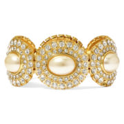 Monet® Simulated Pearl Gold-Tone Stretch Bracelet