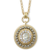 Monet® Crystal and Marcasite Pendant Necklace