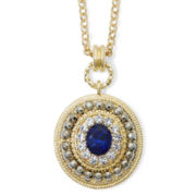 Monet® Blue and Clear Crystal Pendant Necklace