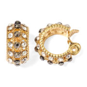 Monet® Crystal and Marcasite Clip-On Hoop Earrings