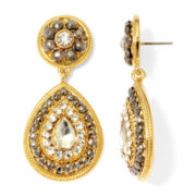 Monet® Crystal and Marcasite Double-Drop Earrings