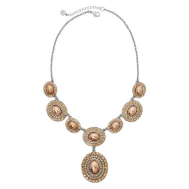 jcpenney.com | Monet® Simulated Gold Pearl and Crystal Drama Necklace