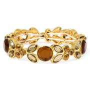 Liz Claiborne® Gray Stone Gold-Tone Stretch Bracelet