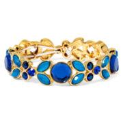 Liz Claiborne® Blue Stone Gold-Tone Stretch Bracelet