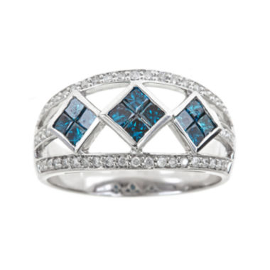 jcpenney.com | LIMITED QUANTITIES 1-1/10 CT. T.W. White and Color-Enhanced Blue Diamond Ring