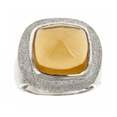 jcpenney.com | LIMITED QUANTITIES  Genuine Lemon Yellow Quartz Ring
