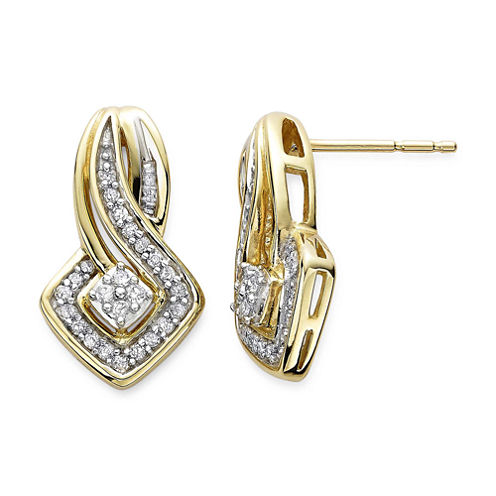 1/4 CT. T.W. Diamond 10K Yellow Gold Earrings