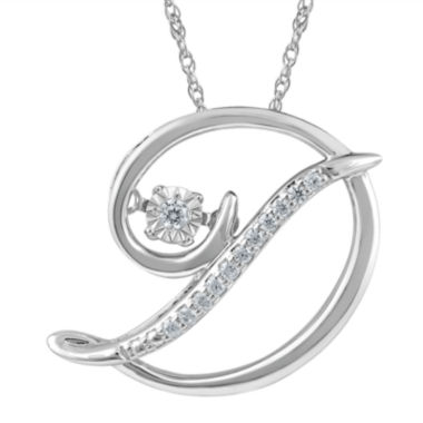 "jcpenney.com | Love in Motion™ Diamond-Accent  Sterling Silver ""D"" Pendant Necklace"