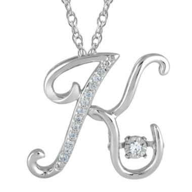"jcpenney.com | Love in Motion™ Diamond-Accent  Sterling Silver ""K"" Pendant Necklace"