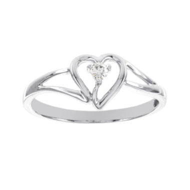 jcpenney.com | Diamond-Accent 14K White Gold Heart Promise Ring