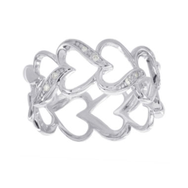 jcpenney.com | Diamond-Accent Sterling Silver Heart Promise Ring