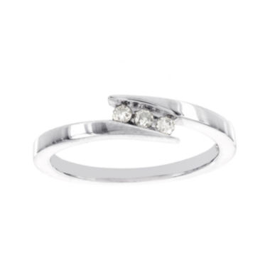 jcpenney.com | 1/10 CT. T.W. Diamond Sterling Silver 3-Stone Promise Ring