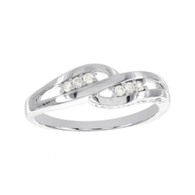 jcpenney.com | 1/10 CT. T.W. Diamond Sterling Silver Promise Ring