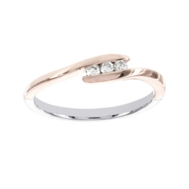 jcpenney.com | 1/10 CT. T.W. Diamond Two-Tone 3-Stone Promise Ring
